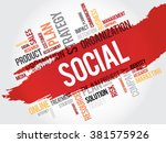 word cloud with social related... | Shutterstock . vector #381575926