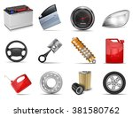set of parts of car. | Shutterstock .eps vector #381580762