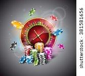 vector illustration on a casino ... | Shutterstock .eps vector #381581656