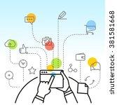 digital marketing concept via...
