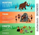 prehistoric stone age caveman... | Shutterstock .eps vector #381588505