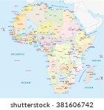 africa political map | Shutterstock .eps vector #381606742