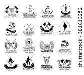 warriors icons set isolated on... | Shutterstock .eps vector #381613252
