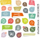 modern sale stickers collection | Shutterstock .eps vector #381613825