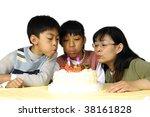 family celebrating birthday ... | Shutterstock . vector #38161828