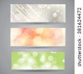 vector set of beautiful summer... | Shutterstock .eps vector #381624472