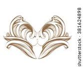 decorative elements in vintage... | Shutterstock .eps vector #381624898