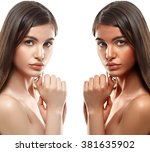 Tan Woman Before After Skin...