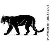 silhouette of black panther | Shutterstock . vector #381641776