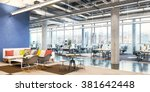 office workplace. modern office ... | Shutterstock . vector #381642448