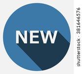 new. icon. vector. flat design... | Shutterstock .eps vector #381646576