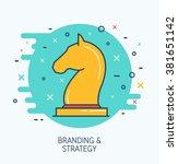 abstract vector branding and...   Shutterstock .eps vector #381651142