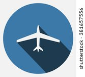 plane icon | Shutterstock .eps vector #381657556