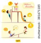 children's characters. happy... | Shutterstock .eps vector #381671185