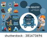 Coal Industry Icons  Character...