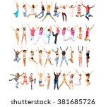 success concept people... | Shutterstock . vector #381685726