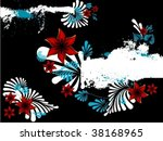 abstract floral background. | Shutterstock .eps vector #38168965
