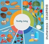 healthy eating food plate. diet ...   Shutterstock .eps vector #381689848