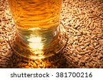 macro view of a beer glass with ... | Shutterstock . vector #381700216