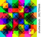 multicolored seamless pattern.... | Shutterstock .eps vector #381709666