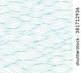 seamless waves pattern.... | Shutterstock .eps vector #381712936