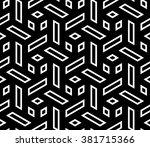 vector modern seamless geometry ... | Shutterstock .eps vector #381715366
