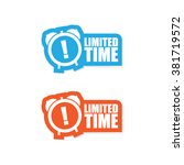 limited time sticker label | Shutterstock .eps vector #381719572