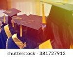 graduates of the university | Shutterstock . vector #381727912
