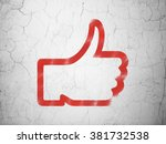 social media concept  thumb up... | Shutterstock . vector #381732538