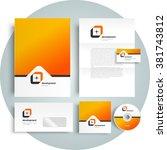 corporate identity design... | Shutterstock .eps vector #381743812