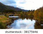 autumn in the norway   river... | Shutterstock . vector #38175646