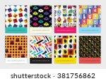 set of eight seamless pattern...   Shutterstock .eps vector #381756862