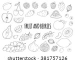 linear hand drawn elements.... | Shutterstock . vector #381757126