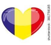 chad flag heart vector...   Shutterstock .eps vector #381758185
