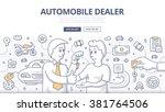 doodle design style... | Shutterstock .eps vector #381764506