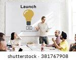 launch start brand introduce... | Shutterstock . vector #381767908
