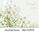 floral  background. | Shutterstock .eps vector #38176993