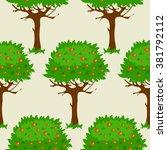 seamless pattern with cartoon... | Shutterstock .eps vector #381792112