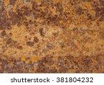 sepia rust texture. | Shutterstock . vector #381804232