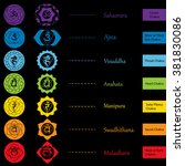 chakras icons . concept of... | Shutterstock .eps vector #381830086