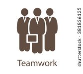 teamwork vector icon. teamwork...   Shutterstock .eps vector #381836125