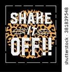slogan print.for t shirt or... | Shutterstock .eps vector #381839548