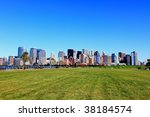 the lower manhattan skylines... | Shutterstock . vector #38184574