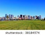 the lower manhattan skylines...   Shutterstock . vector #38184574