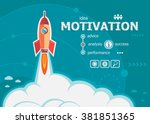 motivation design and concept... | Shutterstock .eps vector #381851365