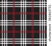tartan  plaid seamless pattern. | Shutterstock .eps vector #381863752