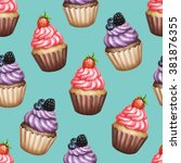 seamless pattern with... | Shutterstock . vector #381876355