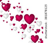 valentine. set of stickers in... | Shutterstock .eps vector #381878125