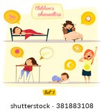 children's characters. happy... | Shutterstock .eps vector #381883108