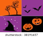 simple halloween vector | Shutterstock .eps vector #38191657
